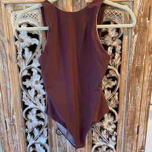 Acacia Swimwear: France Full Piece in Merlot